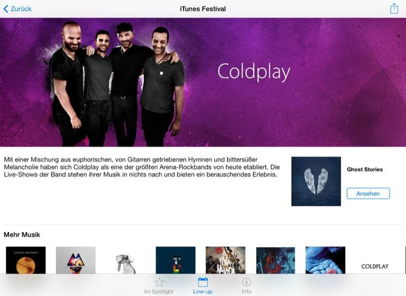 iTunes Festival - der deutsche Spielplan