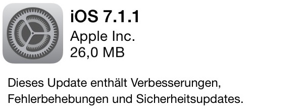 Apple Update iOS 7