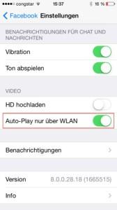 Facebook Auto-Play deaktivieren