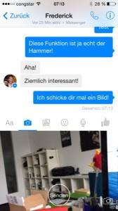 Facebook Messenger Foto senden