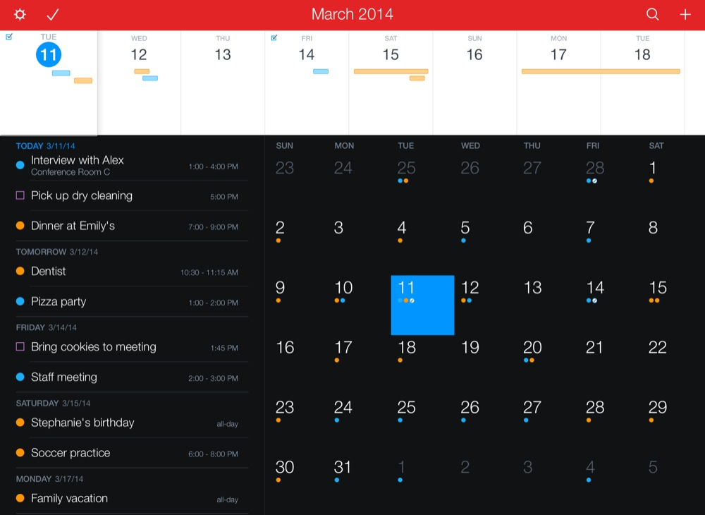 Fantastical 2 for iPad 1