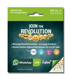 WhatsApp-Tarif SIM Eplus
