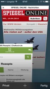 iOS 7 Safari Tabs