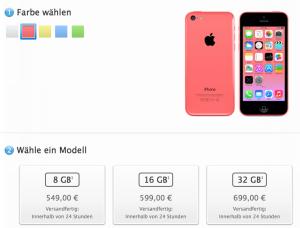 iPhone 5c Speicher