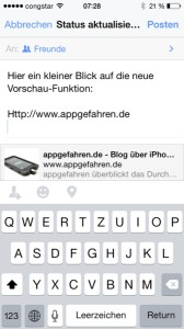 Facebook Vorschau