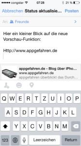 Facebook Vorschau