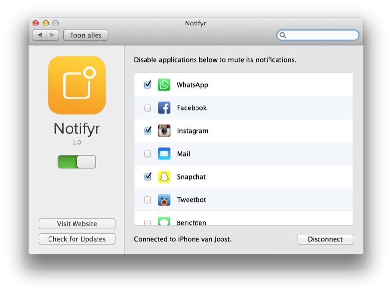 Notifyr Mac