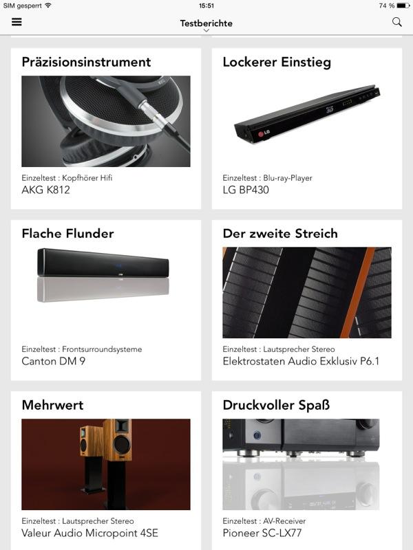 app listet testberichte zu tvs und hifi produkten. Black Bedroom Furniture Sets. Home Design Ideas