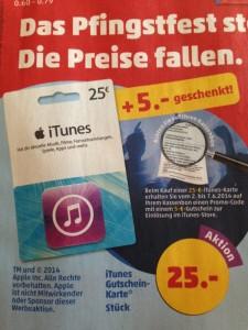 iTunes-Karten Penny
