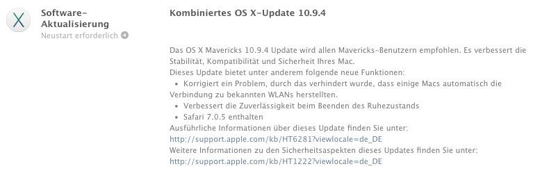 Mac OS 10 9 4