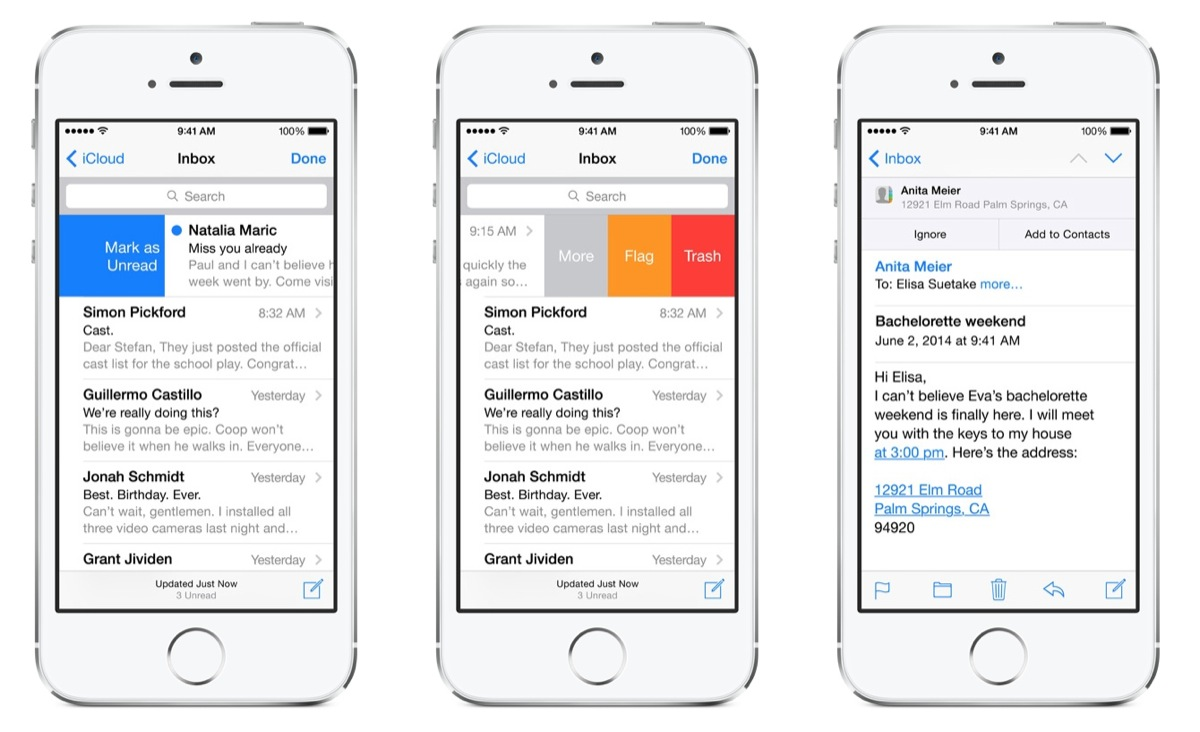Mail App in iOS 8