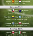 WM 2014 App Live