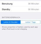 iOS 8 Batterieverbrauch