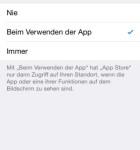 iOS 8 Einstellungen Datenschutz