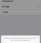 iOS 8 Einstellungen Nachrichten sichern