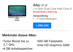 neuer iMac 21 Zoll