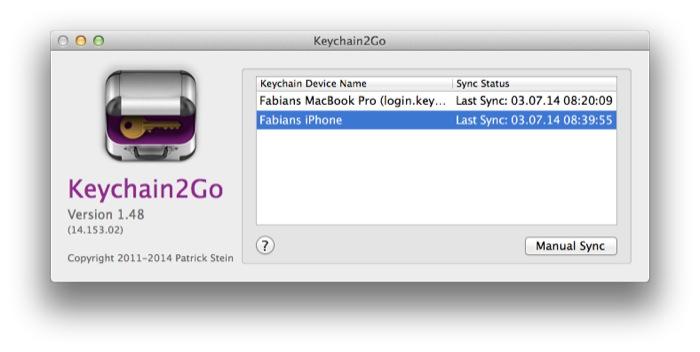 Keychain2Go Mac