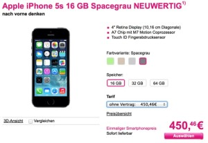 iPhone 5s Telekom