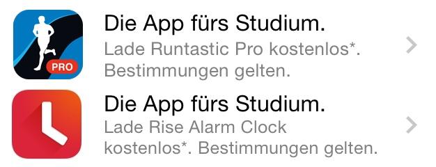 Apple Store App Angebote