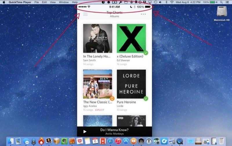 Screencast OS X Yosemite