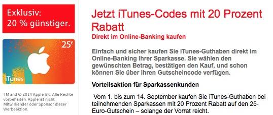 Sparkasse iTunes