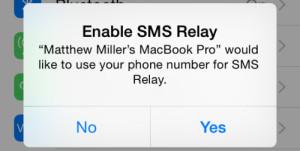 iOS 8 Beta 5 SMS