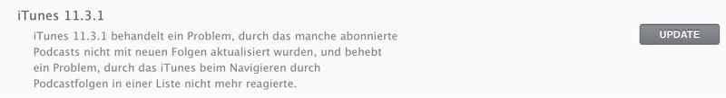 iTunes 11.3.1
