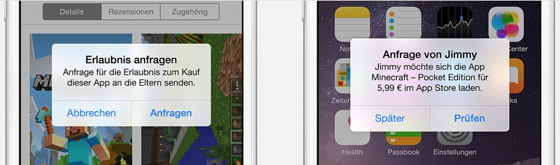 Familienfreigabe iOS 8 Apps