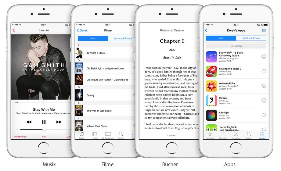Familienfreigabe iOS 8