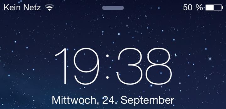 Kein Netz iOS 801
