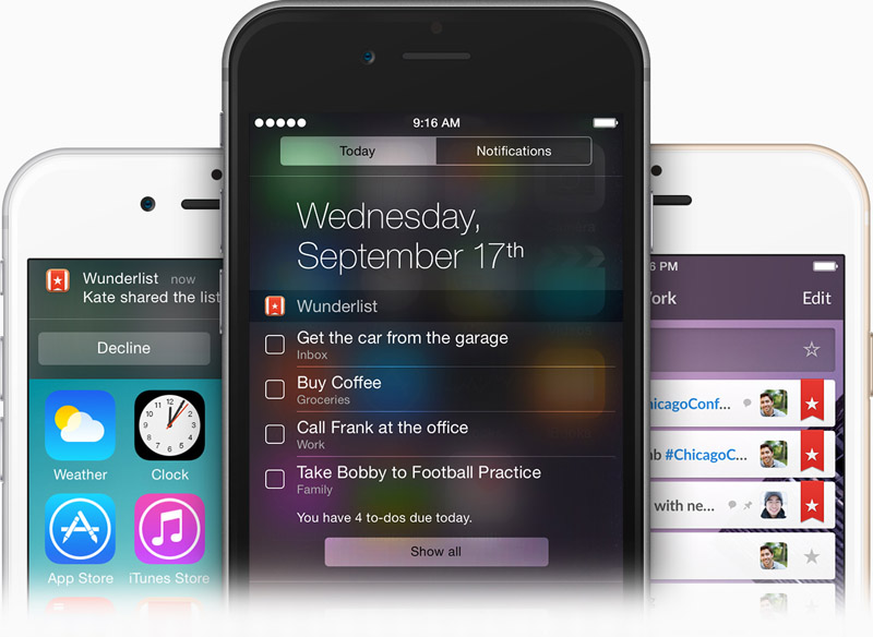 Wunderlist iOS 8