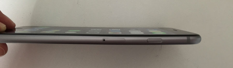 iphone 6 plus gebogen