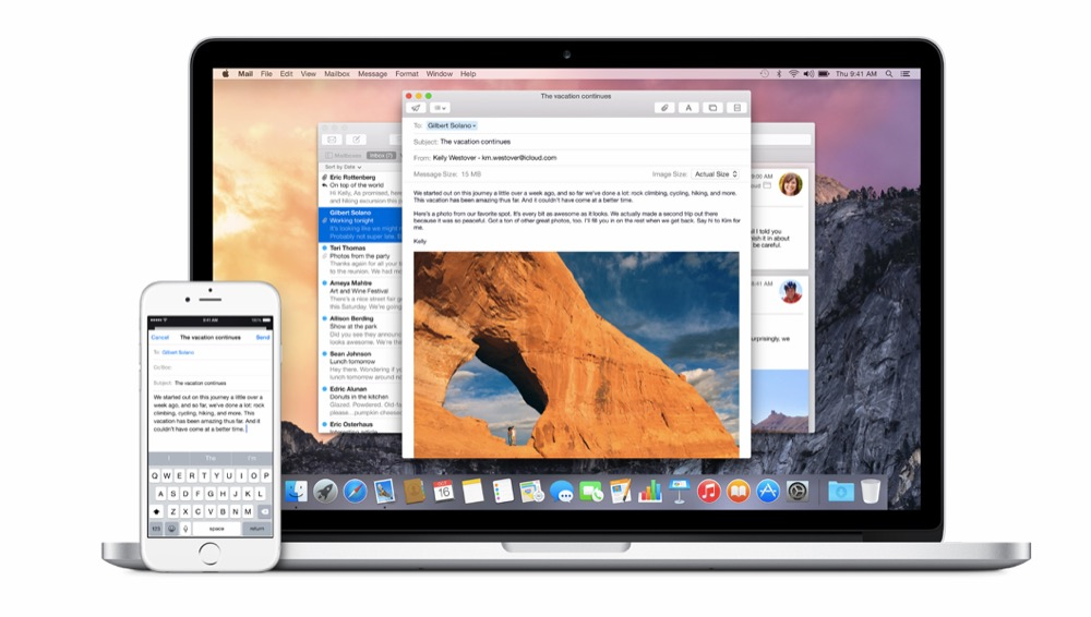 Handoff Mac Yosemite iPhone iOS 8