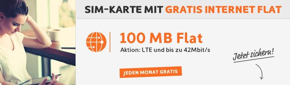 Simyo Internet Flat kostenlos