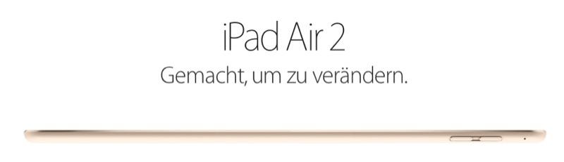 iPad Air 2 Banner