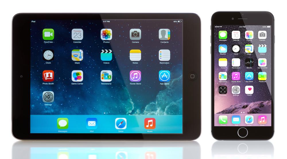 iPad Mini and iPhone 6