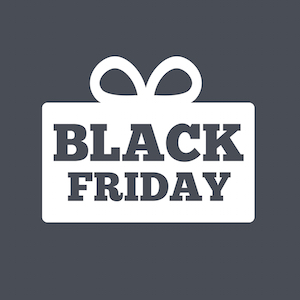 Black friday gift sign icon. Sale symbol.