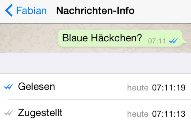 Whatsapp Wann Gelesen