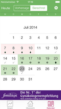 App Zykluskalender