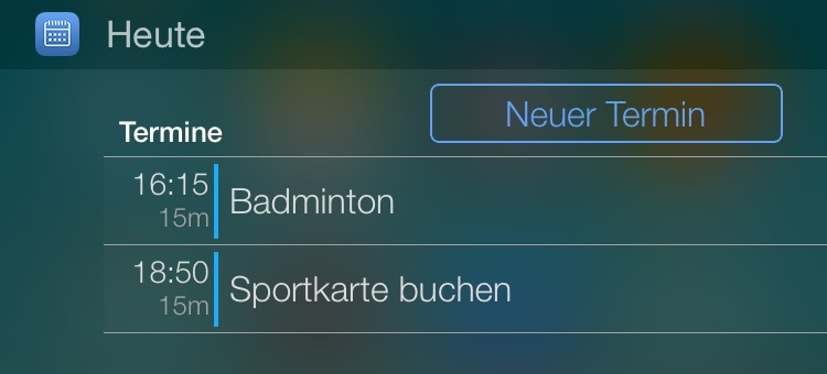 miCal Heute WIdget