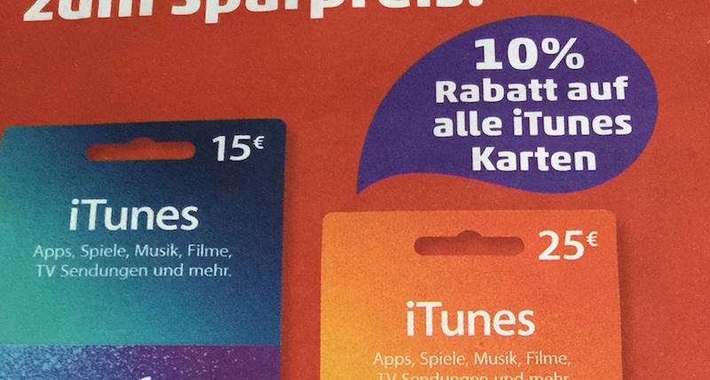 iTunes 10 Prozent