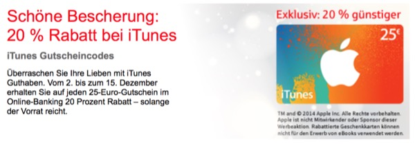 iTunes Aktion Sparkasse