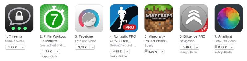 App Store alte Preise