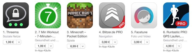 App Store neue Preise