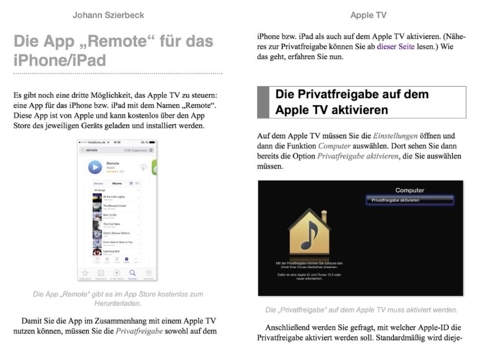 Apple TV Auszug