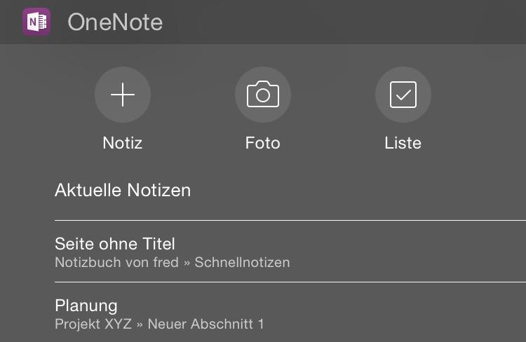 Onenote Widget
