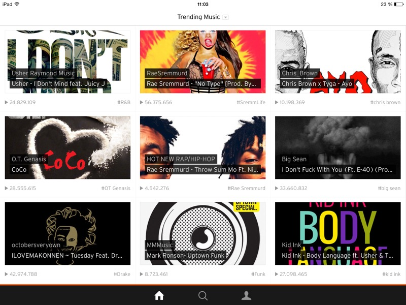 SoundCloud iPad