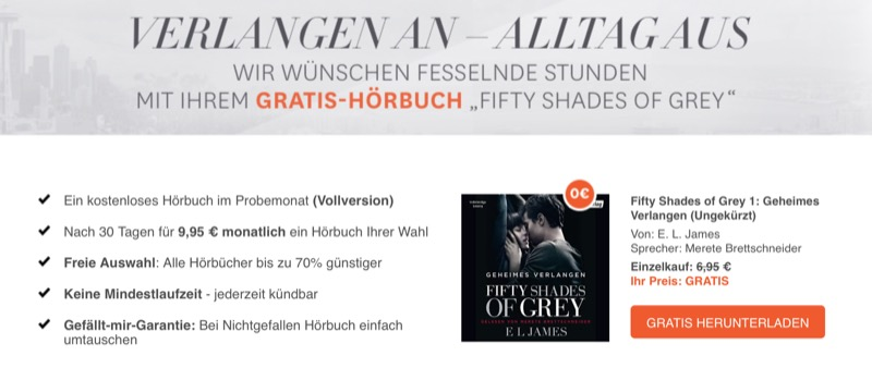 Audible 50 Shades of Grey