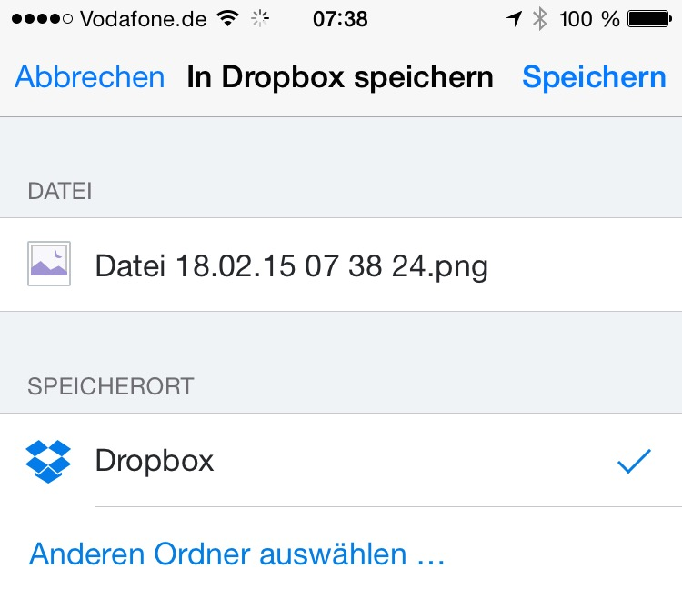 Dropbox sharing extension