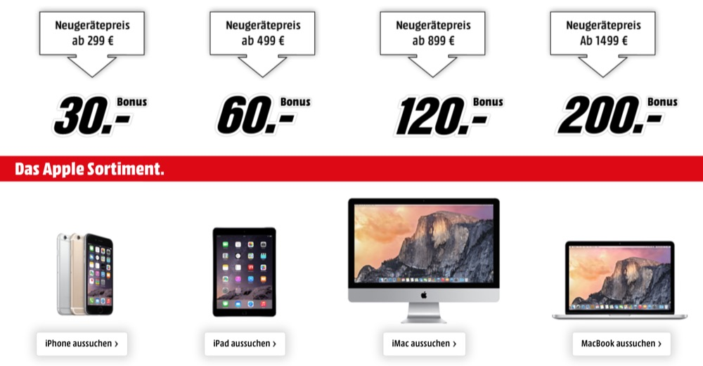 Apple Bonus Media Markt